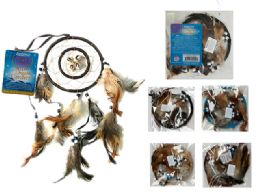72 Units of Dreamcatcher With Feathers And Beads - Home Decor