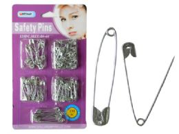 144 Units of 135PC Safety Pins Size: 0#-4# - Sewing Supplies