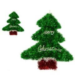 96 Units of Christmas Tree Garland - Hanging Decorations & Cut Out