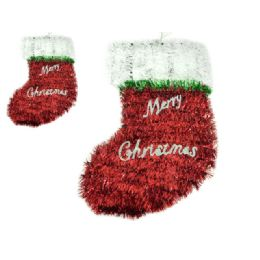 96 Units of Santa Stocking Garland - Hanging Decorations & Cut Out