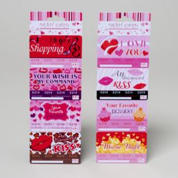 96 Units of Debit Card Valentine 4pk 2asst/i Owe Yous Val Perforated Header S - Valentines