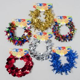 48 Units of Garland Wire 25ft Everyday/bday 6asst Styles Party Barbell Card - Christmas Novelties