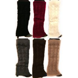 12 Units of Knitted Boot Topper Solid Color Plain Leg Warmer - Arm & Leg Warmers