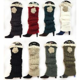 24 Units of Knitted Boot Topper Crochet Top Leg Warmer - Arm & Leg Warmers