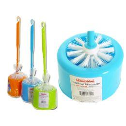 48 Units of Toilet Brush With Rose Holder - Toilet Brush