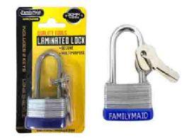 144 Units of 30mm Laminated Lock With Long Shackle - Padlocks and Combination Locks