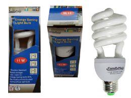 96 Units of 11 Watt Energy Saving Spiral Lightbulb - Lightbulbs