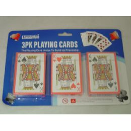 96 Units of 3 Pack Playing Card W/blister Card - Playing Cards, Dice & Poker