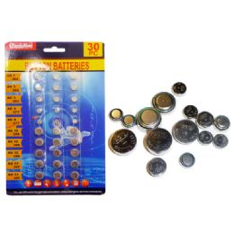 144 Units of 30pc Assorted Button Batteries - Batteries