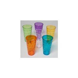 96 Units of 24 Oz Tumblers GlasS-Look - Plastic Tableware