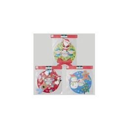 96 Units of 15 Inch TiP- On Paper Wreath Glitter - Christmas Novelties