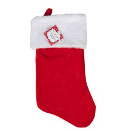 48 Units of Stocking 19in Red Velvet W/white Plush Cuff Xmas - Christmas Stocking