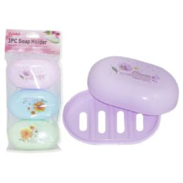 96 Units of 3 Piece Soap Holder - Soap & Body Wash