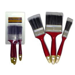 144 Units of Paint Brush 3pc - Paint and Supplies