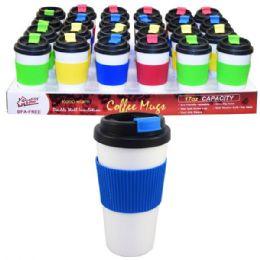 48 Units of Coffee Mug Double Wall 16oz Solid Colors - Coffee Mugs
