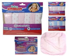 144 Units of 6pc Baby Washcloths - Baby Beauty & Care Items