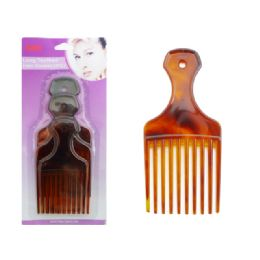 96 Units of Hair Comb 3pc Long Toothed - Hair Brushes & Combs