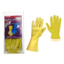 144 Units of Glove Rubber Large Yellow - Kitchen Gloves