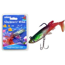 """144 Units of Fishing W/3 Hook 3.2"""" 3asst Color - Fishing Items"""