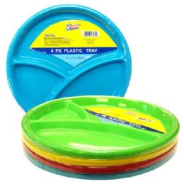 48 Units of Plastic Plate 4pk - Plastic Bowls and Plates