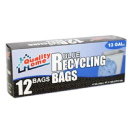 48 Units of 12 Count Garbage Bag Box Clear Recycle - Garbage & Storage Bags