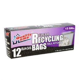 48 Units of Garbage Bag Box Blue Recycle 13g 12ct - Garbage & Storage Bags