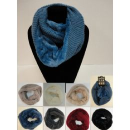24 Units of Knitted Infinity Scarf [plush KniT-Tight Knit] - Winter Scarves
