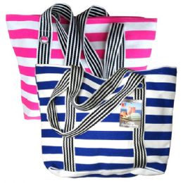 48 Units of Fashion Bag Large Stripes - Shoulder Bags & Messenger Bags
