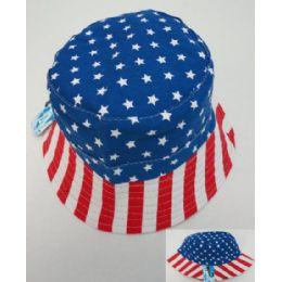 24 Units of Bucket Hat [American Flag] - Bucket Hats