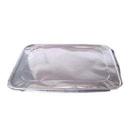 100 Units of Aluminum Lid 1/2 Size - Aluminum Pans