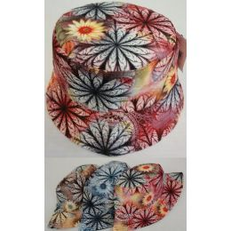 24 Units of Bucket Hat [Lg Floral] - Bucket Hats