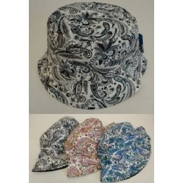 24 Units of Bucket Hat [Paisley] - Bucket Hats