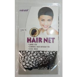 96 Units of 2pc Hair Net - Knitted Stretch Gloves