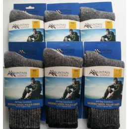 24 Units of MERINO WOOL POLAR HIKER SOCKS MEN'S AND WOMEN'S SIZE LARGE - Womens Thermal Socks