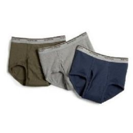 42 Units of FRUIT OF LOOM MEN'S 3 PACK COLOR BRIEFS - Mens Underwear