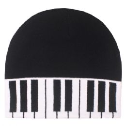 36 Units of Piano Winter Beanie Hat - Winter Beanie Hats