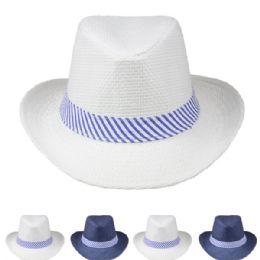 24 Units of Assorted Color Mens Cowboy Hat - Cowboy & Boonie Hat