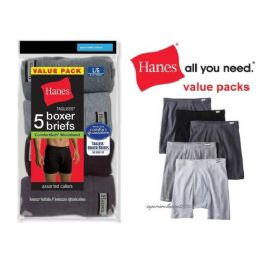 48 Units of HANES 5 PACK MEN'S BOXER BRIEFS ( SLIGHTLY IMPERFECT ) - Mens Underwear