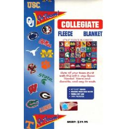 48 Units of FLEECE THROW BLANKET WITH COLLEGE TEAM LOGO - Fleece & Sherpa Blankets