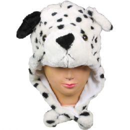 36 Units of Winter Animal Hat Black And White Dog - Winter Animal Hats