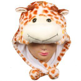 36 Units of Winter Animal Hat Giraffe - Winter Animal Hats