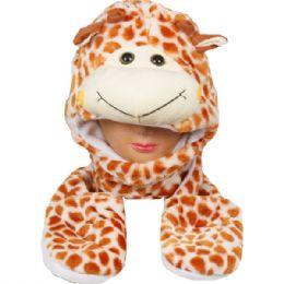 24 Units of Winter Animal Hat Giraffe - Winter Animal Hats