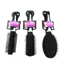 "96 Units of Hair Brush 9"" Long 3asst Color rpink,Purple - Hair Brushes & Combs"