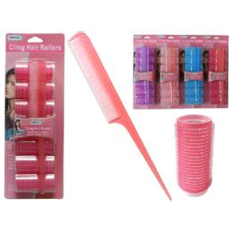 96 Units of 7 Piece Cling Hair Roller - Hair Rollers