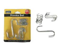 144 Units of 15pc Multipurpose S Hooks - Hooks