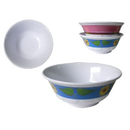 """60 Units of Mela 7.25"""" Noodle Bowl 2asst - Plastic Bowls and Plates"""