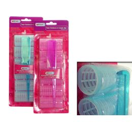 96 Units of 6 Piece Cling Hair Rollers - Hair Rollers