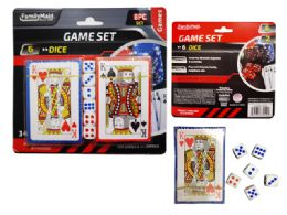 72 Units of 2 Packs Of Playing Cards With Dice - Playing Cards, Dice & Poker