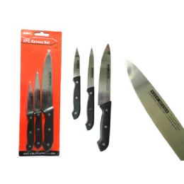 72 Units of 3 Piece Knife Set - Kitchen Cutlery