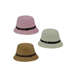 """96 Units of """"CLOCHE"""" HAT IN 3 ASSORTED COLORS - Sun Hats"""